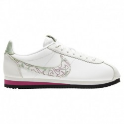 Nike Classic Cortez White Red Blue Nike Classic Cortez - Women's Summit White/Summit White/Noble Red | Se - Avail To Ship Mid F