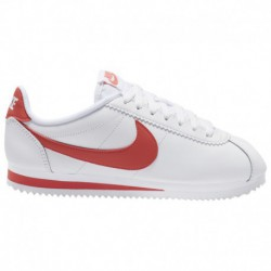 Nike Classic Cortez Leather Sneakers Nike Classic Cortez - Women's White/Magic Ember | Leather